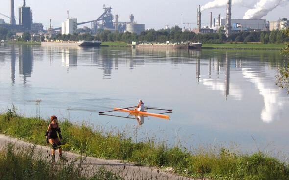 Linz, Industrie- und Kulturmetropole an der Donau in Österreich, Standort der Firma HerwiTec