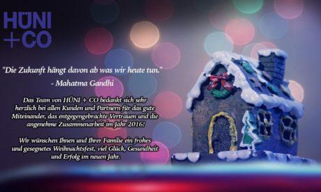 HÜNI + CO wünscht frohe Weihnachten
